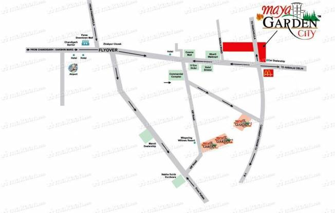 Barnala Builders Maya Garden City Location Plan