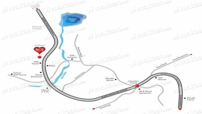 Prasad Sai Prasad Ace Location Plan