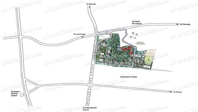 Oberoi Oberoi Exquisite II Location Plan