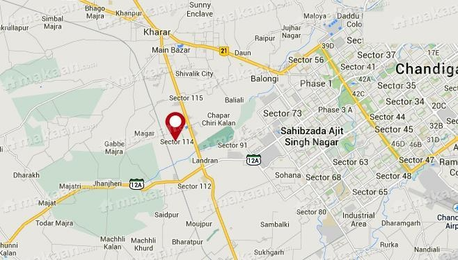 Ansal Ansal Golf Links II Location Plan