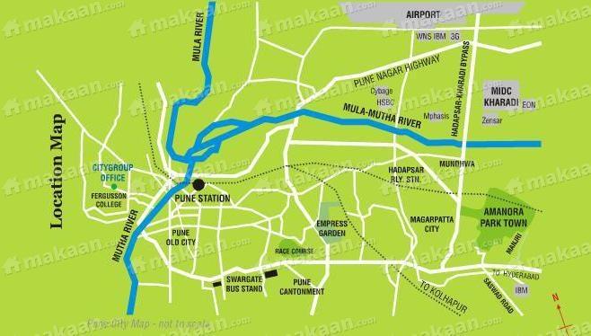 Amanora Amanora Park Town Location Plan