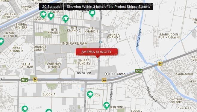 Shipra Shipra Suncity Location Plan