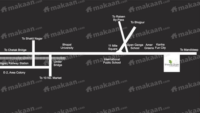 Sheetalnath Builders Pvt Ltd Sheetal Dham Location Plan