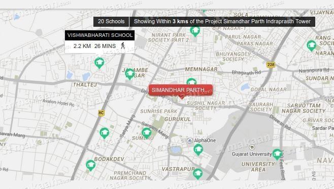 Simandhar Parth Indraprasth Tower Location Plan