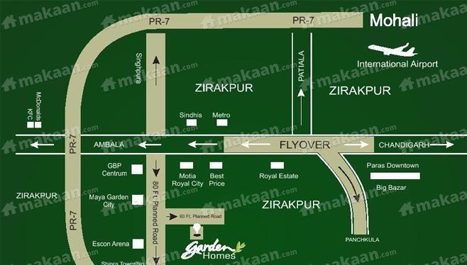 Nirmaan Builders Nirmaan Garden Homes Location Plan