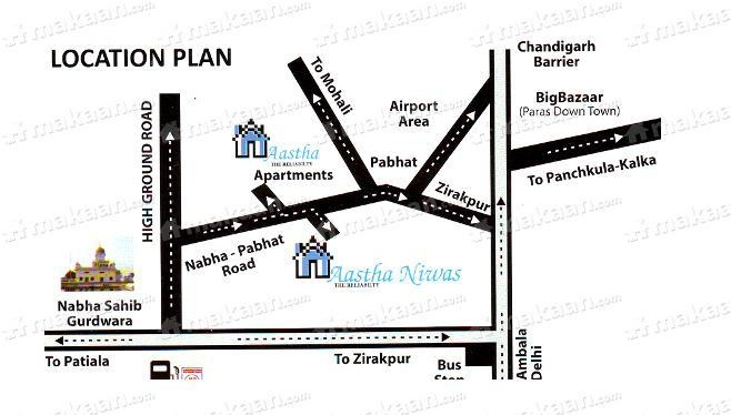 Aastha Apartment Aastha Apartment Location Plan