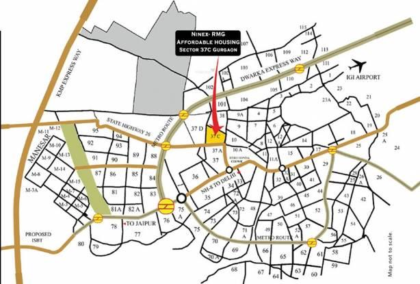 Ninex RMG Residency Location Plan