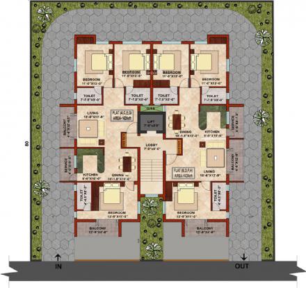 KCee Sagarika Cluster Plan