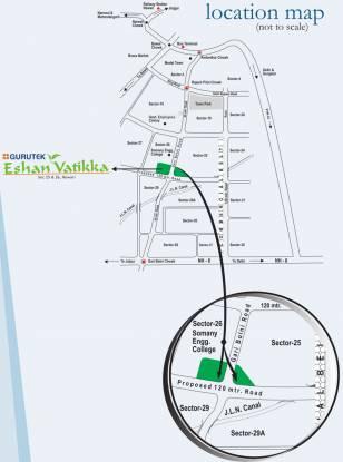 Gurutek Eshan Vatika Location Plan