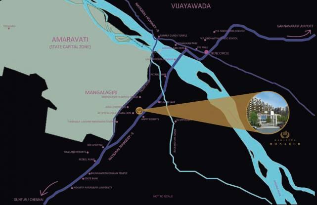 Manjeera Monarch Location Plan