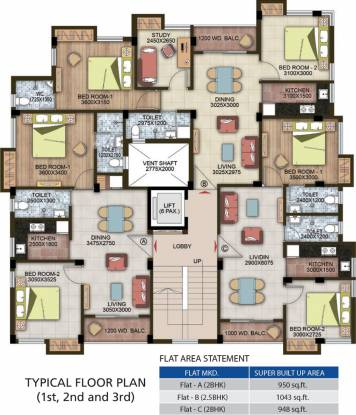 Ganguly 4Sight Ixora Cluster Plan