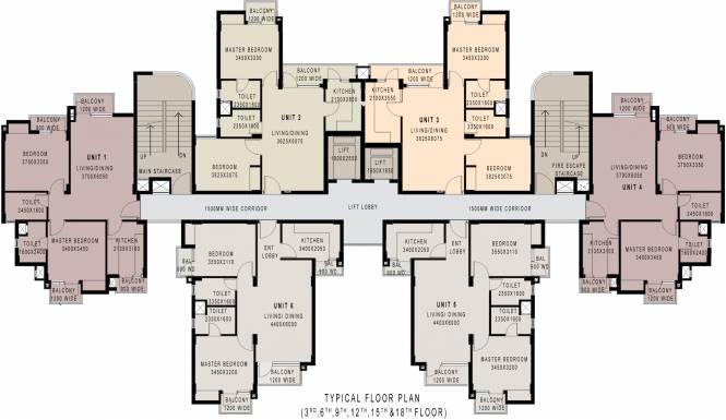 Ansal Greenfield Residencia Cluster Plan