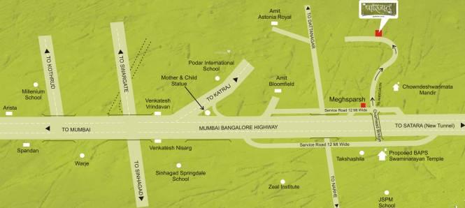 Sharada Parijat Location Plan