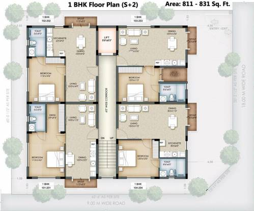 Serene Hub Apartments Cluster Plan