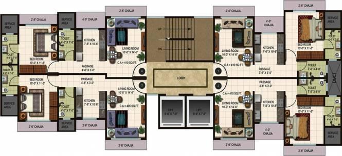 Alamdar Raj Heights Cluster Plan