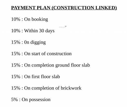 Shubh Villa Payment Plan