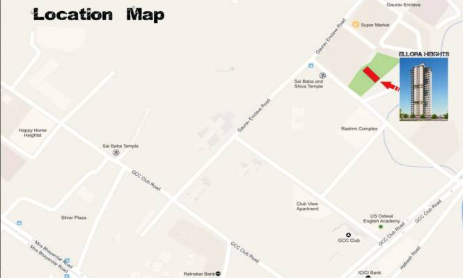 Westin Ellora Heights Location Plan