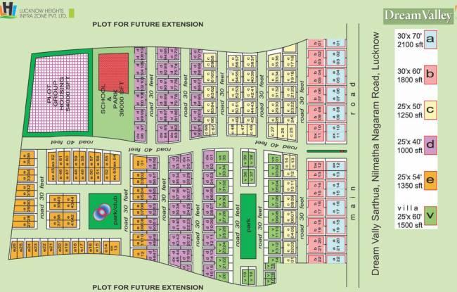 Lucknow Dream Valley Villas Layout Plan