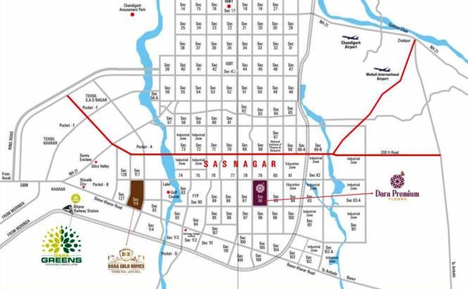 Dara Dara Greens Location Plan