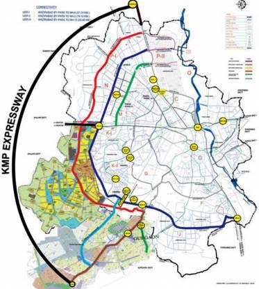 The Antriksh Eco Homes Location Plan