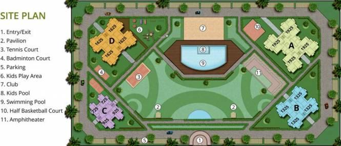 The Antriksh Eco Homes Site Plan