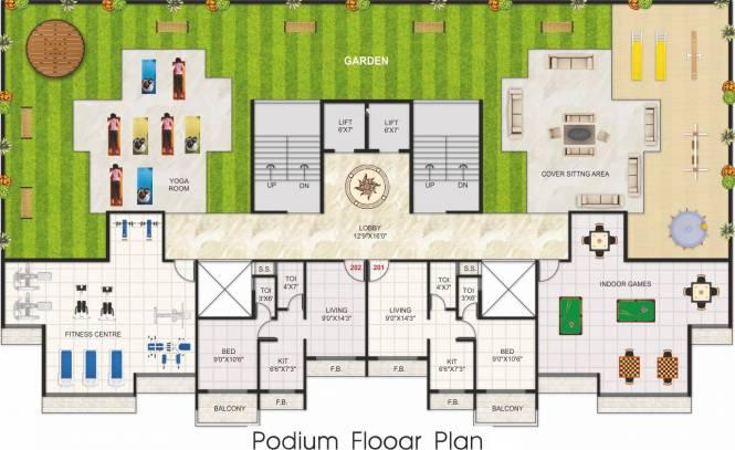 Hari Om Leela Residency Cluster Plan