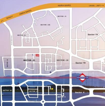 Hari Om Leela Residency Location Plan