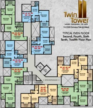 Shraddha Twin Towers Cluster Plan