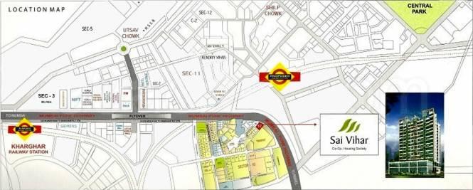 Vihar Sai Vihar CHS Location Plan