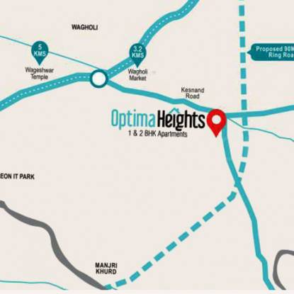 Sarthak Optima Heights Location Plan