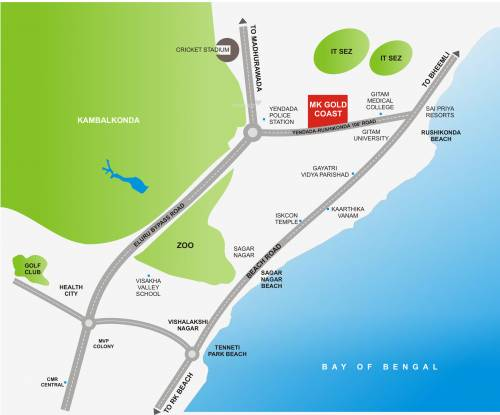 MK Builders and Developers Gold Coast Location Plan