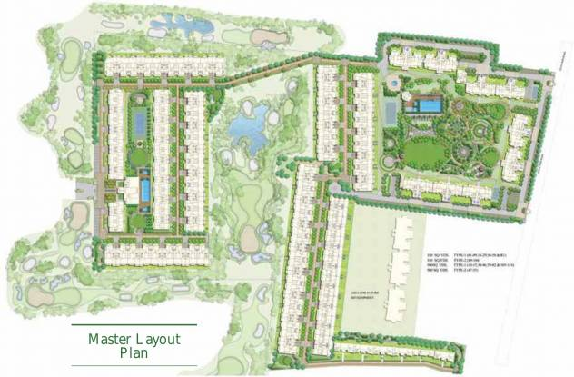 ATS Pristine Golf Villas Phase I Master Plan