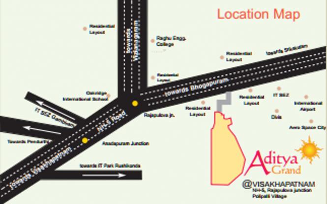 Peram Aditya Grand Location Plan