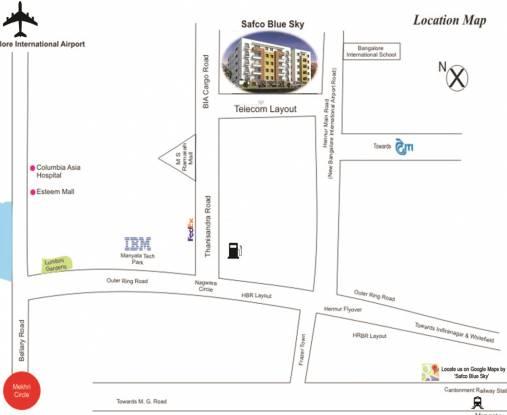 Safco Blue Sky Location Plan