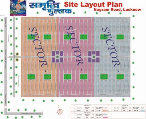 Shine Samridhi Gullak Layout Plan