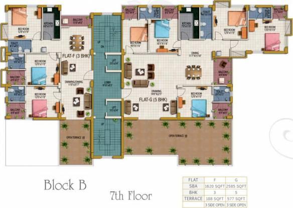Akchat Laxmi Garden Cluster Plan