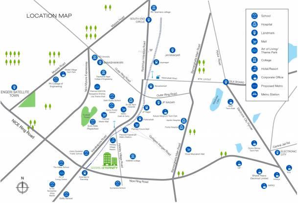 Godrej Eternity Location Plan