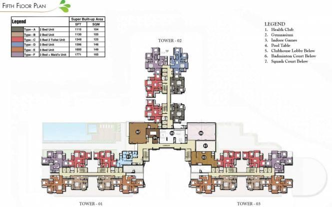 Prestige Park Square Cluster Plan