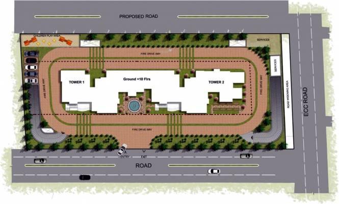 Prestige Fontaine Bleau Site Plan