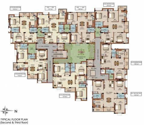 Raunaq The Courtyard Cluster Plan