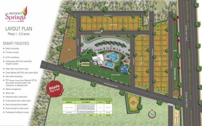 Merusri Springs Layout Plan