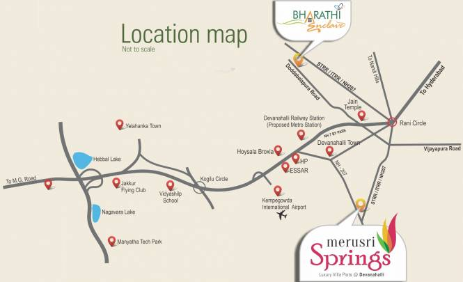 Merusri Springs Location Plan