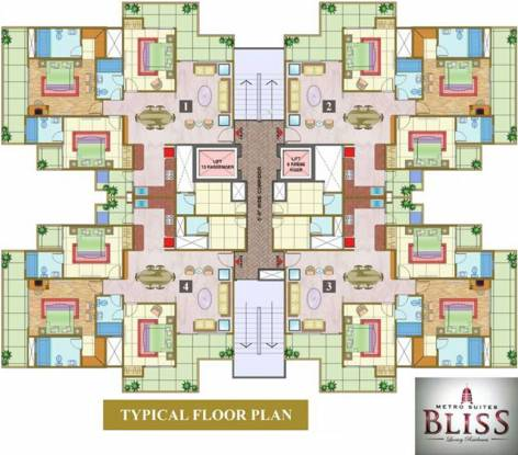 Nandini Metro Suites Bliss Cluster Plan