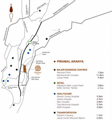 Piramal Aranya Location Plan