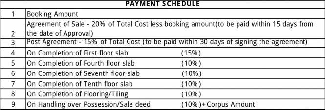 Golden Golden Days Payment Plan