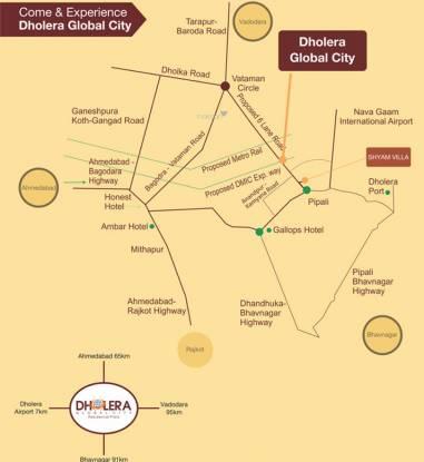 Shyam Dholera Global City Location Plan