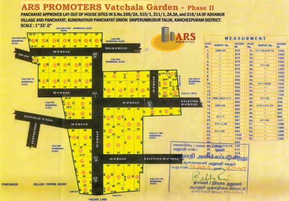 ARS Vatchala Garden Phase 2 Layout Plan