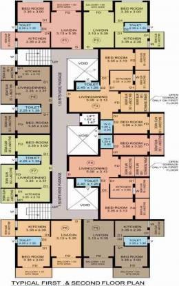 R Square Angel Rose Cluster Plan
