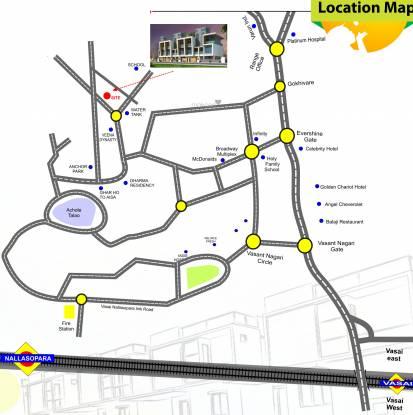 Shree Ganesh Imperial Villas Location Plan