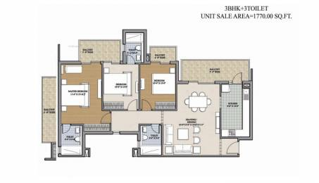 1770 sqft, 3 bhk Apartment in Ansal Heights Sector 92, Gurgaon at Rs. 68.0000 Lacs